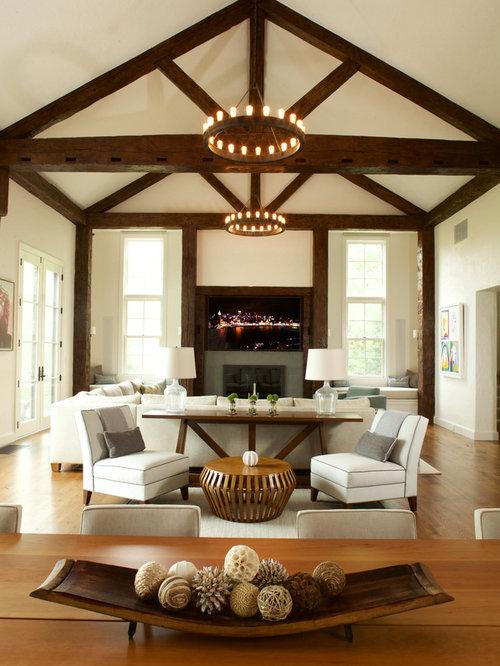 Farmhouse Family Room Design Ideas Remodels Photos Houzz