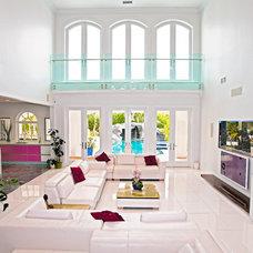 Mediterranean Family Room by Mega Builders
