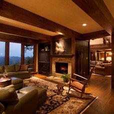 Traditional Family Room by Cheryl Smith Associates