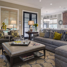 Transitional Family Room by Maria DeGange