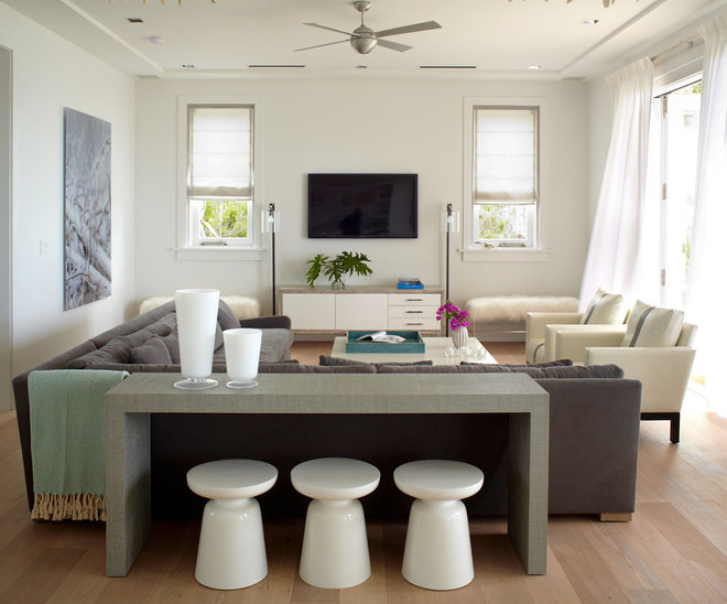 Beach Style Family Room by Dale Blumberg Interiors