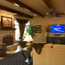 Traditional Family Room by King's Court Builders, Inc.