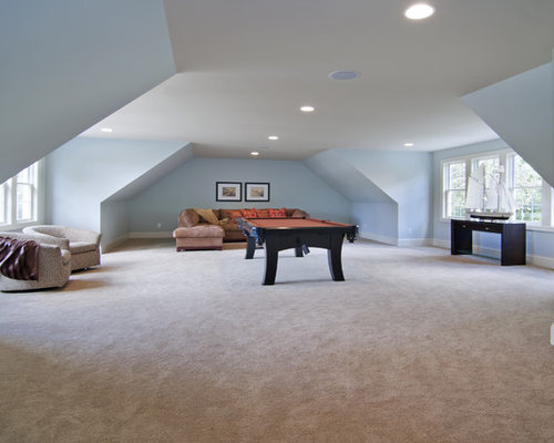Room above garage houzz for Room over garage plans
