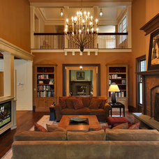 Traditional Family Room by Country Club Homes