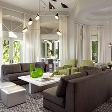 Contemporary Family Room by Allen Saunders, Inc.