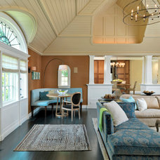 Transitional Family Room by Meyer & Meyer, Inc.