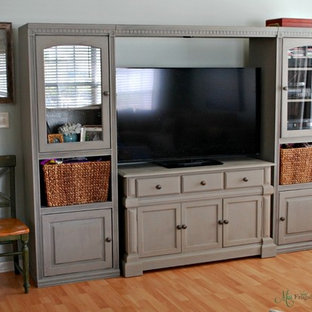 Affordable Entertainment Center Makeover with Chalk Paint