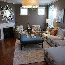 Transitional Family Room by The Expert Touch Interiors