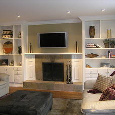 Contemporary Family Room by The Expert Touch Interiors