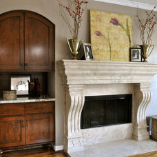 Transitional Family Room by Ultimate Designs by DR (Deborah Rivera)