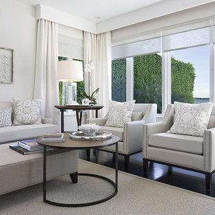Minimalist family room photo in Miami