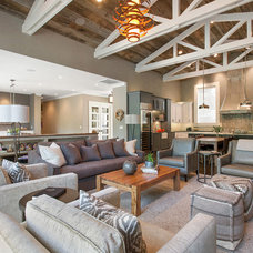 Farmhouse Living Room by LMK Interiors