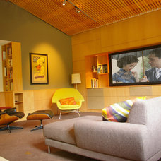 Modern Family Room by Patrick Perez Architect