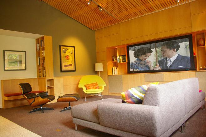 Modern Family Room by Patrick Perez Architect