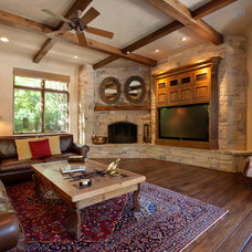 Transitional Family Room by Creative Environments