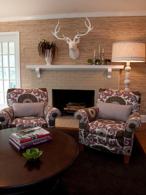 Perfect Inspiration For A Contemporary Family Room Remodel In DC Metro With Beige  Walls, A Standard