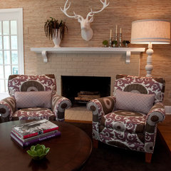 contemporary family room by InDesign / Lori Ludwick