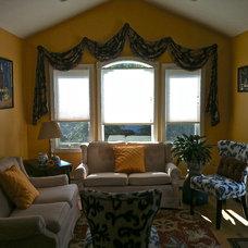 Eclectic Family Room by Alison Watt Interiors