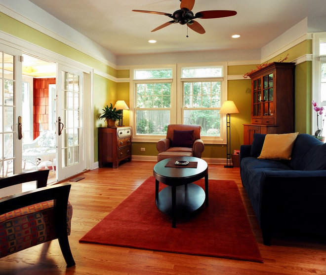 Eclectic Family Room by Bud Dietrich, AIA