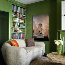 Eclectic Family Room by Dirk Denison Architects