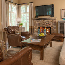 Traditional Family Room by Regas Interiors, LLC