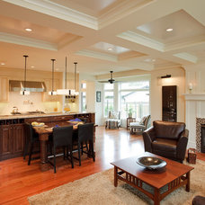 Traditional Family Room by Stephens Fine Homes Ltd