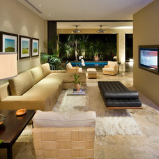 Contemporary Family Room by WAYCOOL Homes, LLC