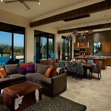 Southwestern Family Room by Link Architecture, PC