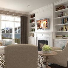 Traditional Family Room by Sue-Jolie Rioux, ASID, IIDA