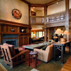 Craftsman Family Room by TKP Architects