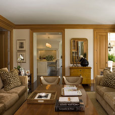 Traditional Family Room by Andrew Skurman Architects