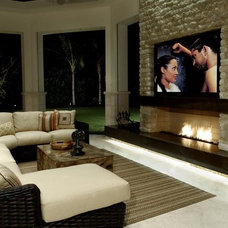 Contemporary Family Room by Kendall Marcelle Design Assoc. Inc.