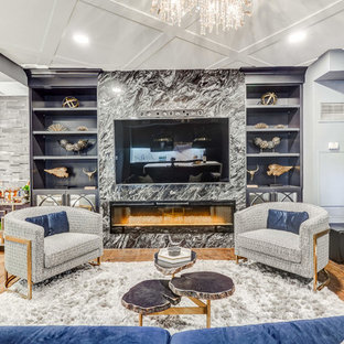 Example of a trendy family room design in Toronto