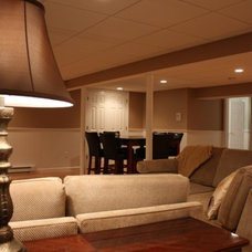 Traditional Family Room by Lisa
