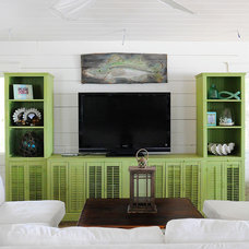 Beach Style Family Room by The Blue Moon Trading Company