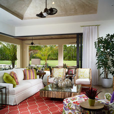 Tropical Family Room by London Bay Homes