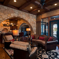 mediterranean family room by Jenkins Custom Homes