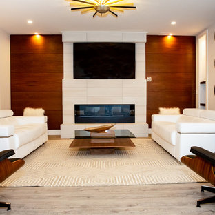 Family room - modern family room idea in St Louis