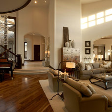 Contemporary Family Room by Roxbury Studios