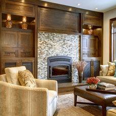 Craftsman Family Room by Rockwood Custom Homes