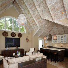 Contemporary Family Room by Palladio Interior Design & Wallace J. Toscano AIA
