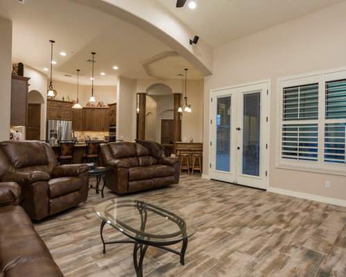 Country Family Room Design Ideas Renovations Photos With Terra Cotta Floors