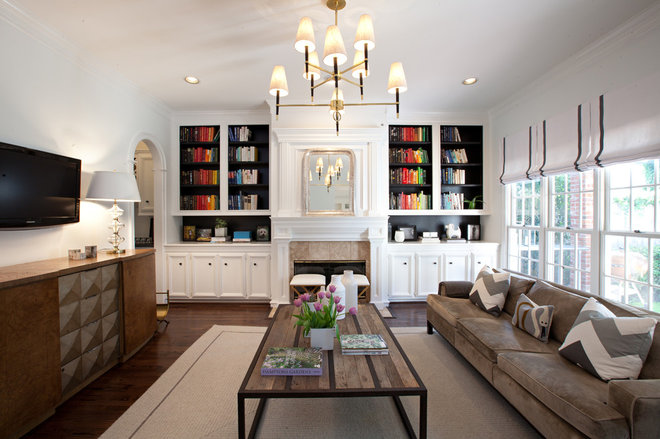 Contemporary Family Room by Sally Wheat Interiors