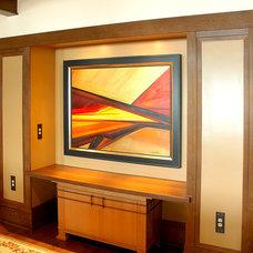 Craftsman Family Room by Wyatt Drafting & Design