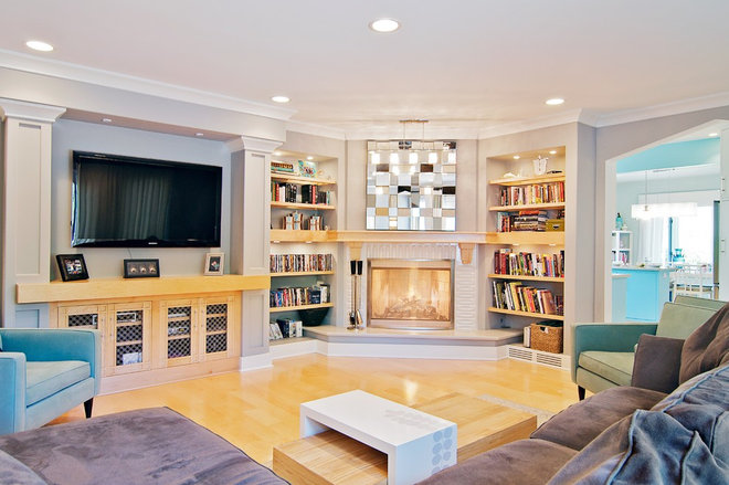 contemporary family room by Dan Waibel Designer Builder