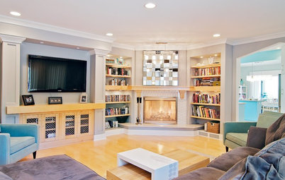 Corner Fireplaces Give Rooms a Design Edge