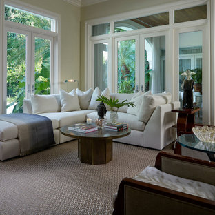 Artfully Curated In Palm Beach: Family Room