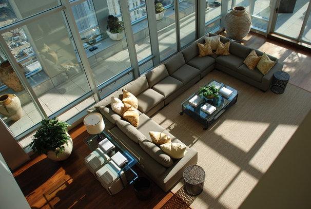 Contemporary Family Room by Arthur McLaughlin & Associates, Inc.