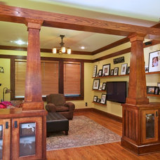 Traditional Family Room by Copper Sky Renovations