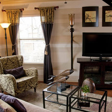 Traditional Family Room by True Interiors, LLC